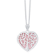 Silver Cubic Zirconia Tree of Life Design Heart Locket - Product number 8116970