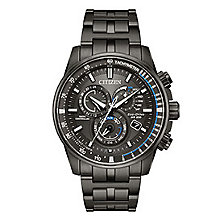 Citizen Men's Eco Drive Perpetual Grey Ion Plated Watch - Product number 8117004