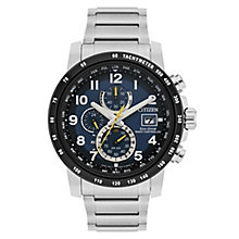 Citizen Men's Stainless Steel Blue Radio Chronograph Watch - Product number 8117012