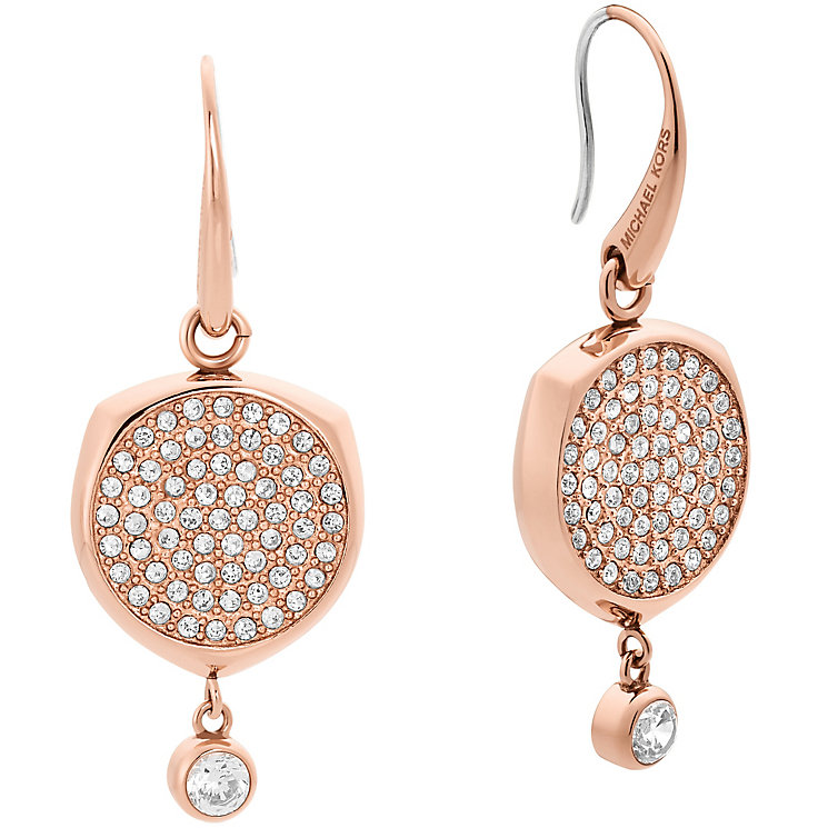Michael Kors Beyond Brilliant Rose Gold-Tone Drop Earrings - Product number 8117446