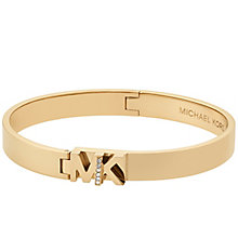Michael Kors Haute Hardware Yellow Gold-Tone Logo Bangle - Product number 8117454