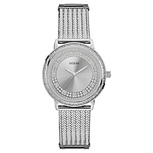 Guess Ladies' Stainless Steel Mesh Strap Watch - Product number 8119376