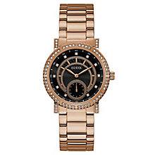 Guess Ladies' Iconic Rose Gold Tone Bracelet Watch - Product number 8119422
