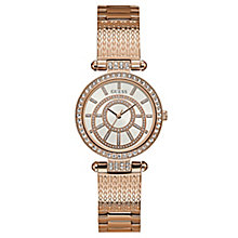 Guess Ladies' Iconic Rose Gold Tone Bracelet Watch - Product number 8119430