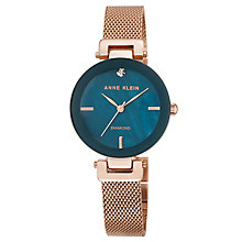 Anne Klein Ladies' Rose Gold Mesh Bracelet Watch - Product number 8119643