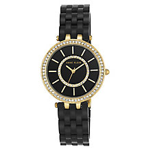 Anne Klein Ladies' Black Resin Bracelet Watch - Product number 8119678