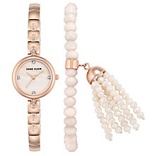Anne Klein Ladies' Rose Gold Watch & Bracelet Set - Product number 8119732