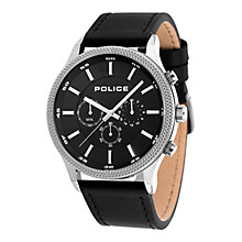 Police Men's Black Leather Strap Watch - Product number 8119848