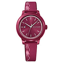 Tommy Hilfiger Ladies' Red Silicone Strap Watch - Product number 8119929