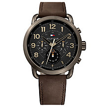 Tommy Hilfiger Men's Brown Leather Strap Watch - Product number 8120269