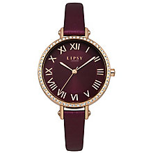 Lipsy Ladies' Red PU Strap Watch - Product number 8120315