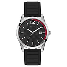 Guess Men's Iconic Black Silicone Strap Watch - Product number 8120587