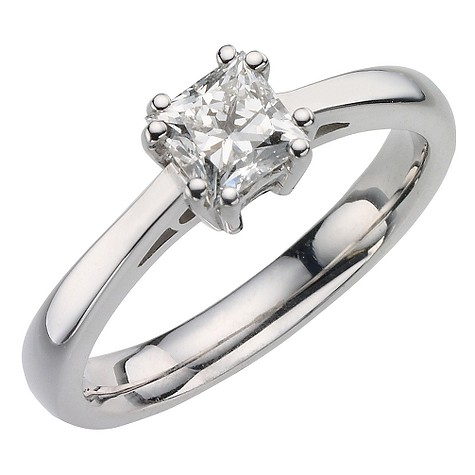 18ct white gold 75pt diamond solitaire ring