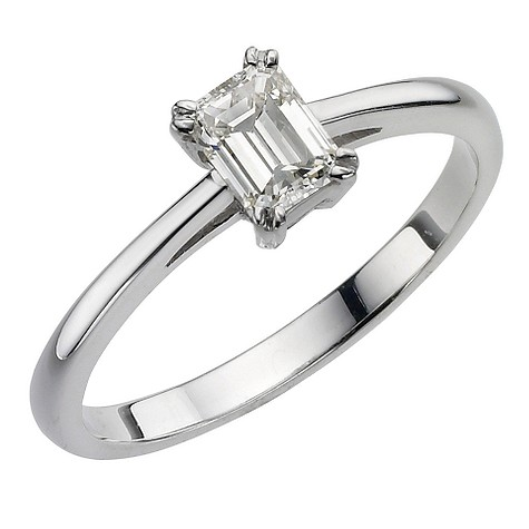 18ct white gold 50pt diamond solitaire ring