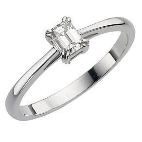 18ct white gold 25pt diamond solitaire ring - Product number 8121524