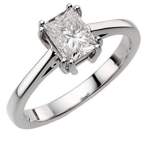 18ct white gold 49pt diamond solitaire ring