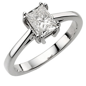 18ct white gold 49pt diamond solitaire ring - Product number 8122040