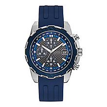 Guess Men's Blue Silicone Strap Watch - Product number 8122636