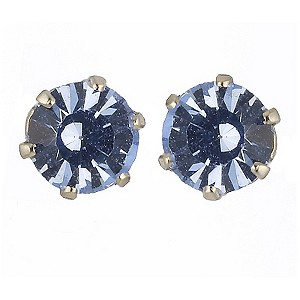 9ct Yellow Gold Blue Cubic Zirconia Stud Earrings 4mm - Product number 8124868