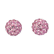 9ct Yellow Gold Pink Cubic Zirconia Stud Earrings 6mm - Product number 8124876