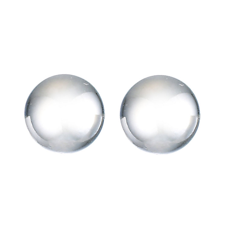 9ct White Gold Ball Stud Earrings 5mm - Product number 8124930