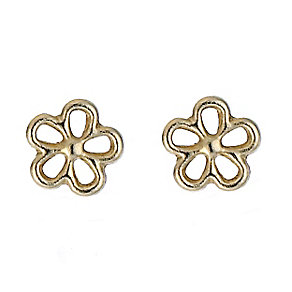 9ct Yellow Gold Flower Stud Earrings - Product number 8125007