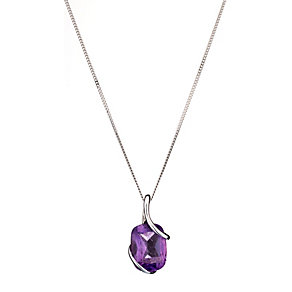 9ct White Gold Amethyst Pendant - Product number 8126186