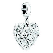 Chamilia Sterling Silver Melt My Heart Charm - Product number 8128235