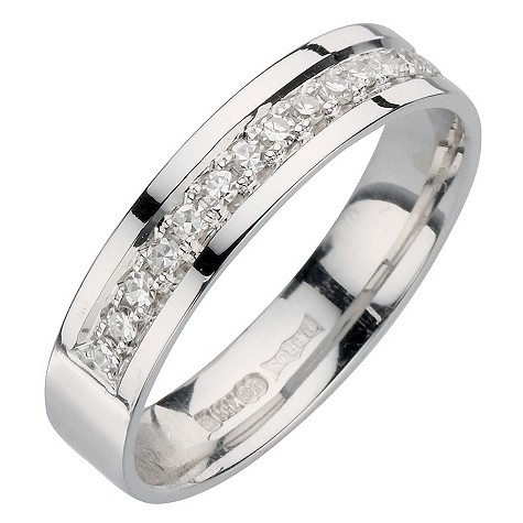 18ct white gold third carat diamond ring