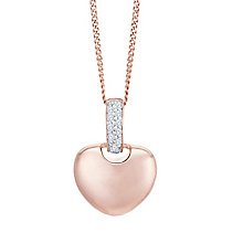 9ct Rose Gold Diamond Everlasting Heart Pendant - Product number 8129754