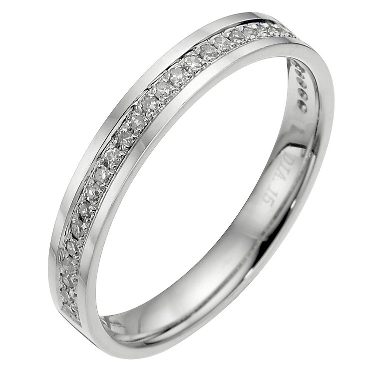 Platinum diamond wedding ring. - Product number 8129789