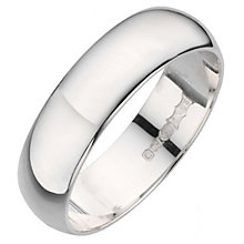 18ct white gold D shape extra heavy weight 5mm ring - Product number 8129916