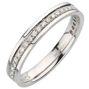 9ct white gold 15pt diamond ring - Product number 8130299