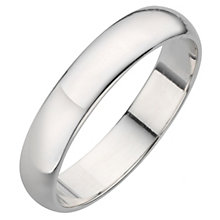 Platinum D shape extra heavy weight 4mm ring - Product number 8130434