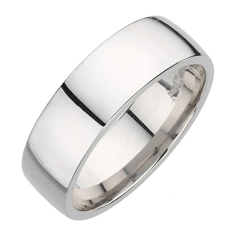 Palladium super heavy 7mm court wedding ring
