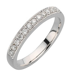 18ct white gold quarter carat diamond vintage ring - Product number 8131481
