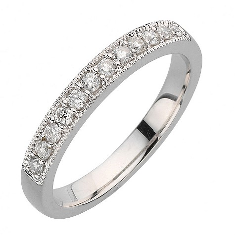 18ct white gold quarter carat diamond vintage ring