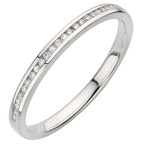 18ct white gold diamond channel set diamond ring