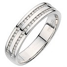 18ct white gold twin channel 20pt diamond ring - Product number 8131880