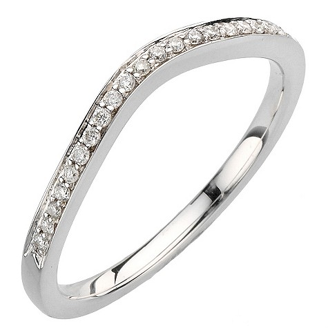 18ct white gold diamond twist ring