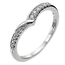 18ct white gold diamond wishbone wedding ring - Product number 8134537