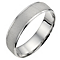 Platinum polished and matt wedding ring - Product number 8134979