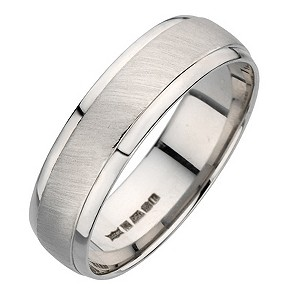 Palladium 950 6mm matt & polished ring - Product number 8137013