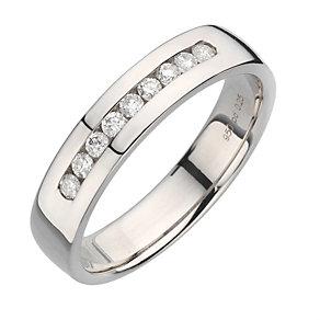 Palladium 950 5mm quarter carat diamond ring - Product number 8137382