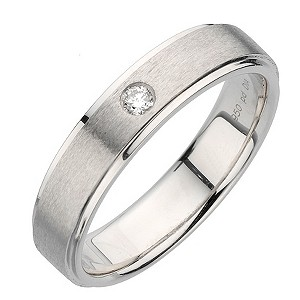 Palladium polished and matt ring 6mm - Product number 8137579