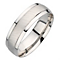 9ct white gold matt and polished ring - Product number 8138575