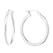 Sterling silver polished hoop earrings - Product number 8139164