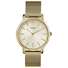 Timex Ladies' Gold Stainless Steel Mesh Bracelet Watch - Product number 8140006
