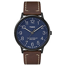 Timex Men's Waterbury Classic Brown Leather Strap Watch - Product number 8140340