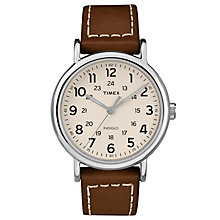 Timex Men's Brown Leather Strap Watch - Product number 8140502